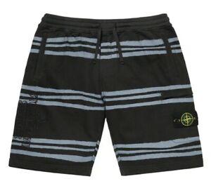 Supreme x Stone Island Stripped Cotton Fleece Shorts in Black | Men's Small