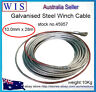 4 x 4 Galvanized Winch Cable,10mm x 28m,Up to 12000Lb Rope Wire Replacement45957