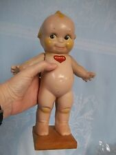 "ANTIQUE KEWPIE, ROSE O'NEILL , DOLL 11.5"" ON WOOD BASE, COMPOSITION"
