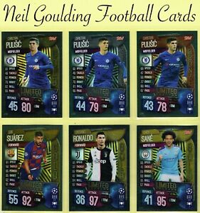 Topps MATCH ATTAX 2019-2020 ☆ LIMITED EDITION ☆ Football Cards
