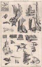 Notes on Albert Durer . Decorative 1873 old antique vintage print picture