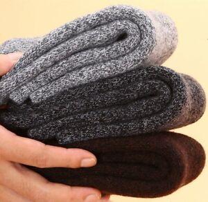 3 Pack Men 100% Merino Wool Fleece Cushioned Socks Thick Thermal Heavyweight 5-9