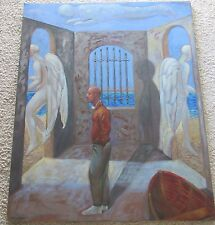 FRANK GUTIERREZ PAINTING SURREALISM ABSTRACT MUSEUM QUALITY ANGELS FREEING PETER