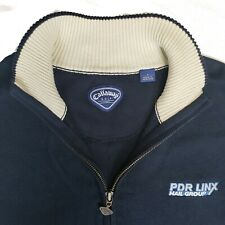 Callaway Golf Sport Mens Large Blue 1/4 Zip Sleeveless Vest