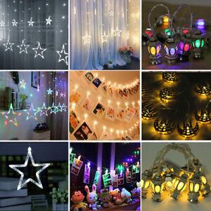 Eid Mubarak Star Photo Clips LED String Fairy Light Ramadan Muslim Islam Decor
