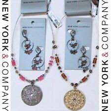 $88 NWT NEW Wholesale Lots Free Shipping NEW YORK & COMPANY Necklaces Earrings