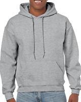 GILDAN Adult Hoodie Soft Grey Hooded Sweatshirt