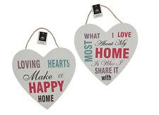 Loving corazones pared moderno Dobles Franja Letrero Mensaje Decoración Hogar