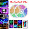 2M/3M/5M/10M RGB LED Strip Light Remote Control Outdoor/Indoor KTV Hotel