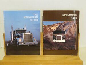 Vintage Kenworth Truck Literature - 1980's - 3 pieces - K-100, W-900