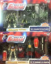 Action Figure Lotto Stock MOBILE SUIT GUNDAM DELUXE EDITION RX-78+ZAKU+G-FIGHTER