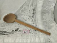 """OLD LARGE HAND CARVED WOODEN WOOD SPOON 15.15"""" Long TREEN KITCHENWARE"""