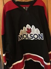 NEW MOLSON CANADIAN BEER HOCKEY JERSEY SIZE 54 SEWN FIGHT STRAP