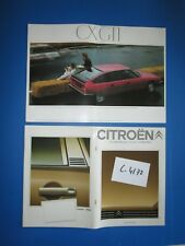 C.4172 / catalogue luxe  CITROEN CX 2400 pallas-CX GTI-CX prestige 1981
