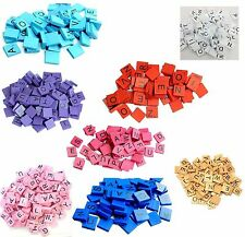 100 Colour Wooden Scrabble Tiles Mix Letters Varnished Best Quality Tiles