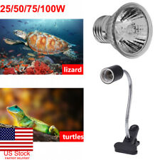 US 25-100W UVA UVB Heat Emitter Lamp Holder Bulb Light Heater Pet Reptile Turtle