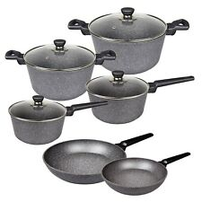 Stone Non-stick Cookware Set, Frypan, Saucepan, Casserole, Induction 10pc