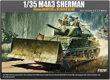 1/35 Scale M4A3 Sherman 105mm Howitzer & M1 Dozer Blade #13207 Academy