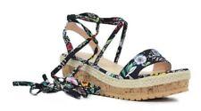15d7ac10d8aa NEW! Pretty Women s Shoes Floral  Black Platform Sandals Size 7