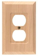 American Tack 180D Unfinished Wood Duplex Wallplate - NEW
