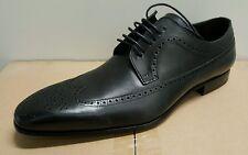 Mezlan Men's Genuine Leather Wingtip Oxford, Black, Size 11-M Nwt $ 450