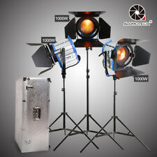 For Film Built-in Dimmer 3PCS 1000W Fresnel Tungsten light + video stands camera