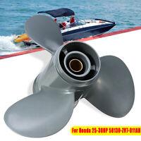 For Honda 25-30HP 9 7/8 x 11 Aluminum Boat Outboard Propeller 58130-ZV7-011AH