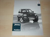 46114) Suzuki Jimny Preise & Extras Prospekt 04/2003