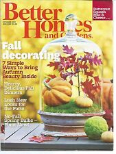 Better Homes and Gardens October 2012 Natural accents/Lush Foliage/Harvest Gold