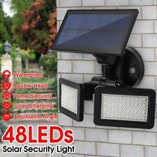 Waterproof Dual Head 48LED Solar Power Sensor Outdoor Wall Light Radar Lamp