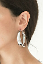 Paparazzi Jewelry Gypsy Goals Silver Hoop Earring NWT