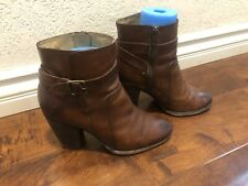 Frye Patty Riding Boots Women's  Sz 9M Brown Leather !!