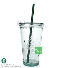 ST072 16oz Starbucks Cold Cup to go Siren Logo Glass tumbler NEW