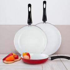3 Pcs Healthy Nonstick Ceramic Frying Pan Set Eco Friendly Fry Pan Cookware Set