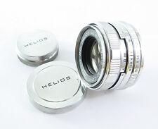 HELIOS 44M-5 MC Russian Pentax M42 Lens SILVER WHITE vg