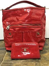Marc by Marc Women Bag Jacobs purse Red Patent Leather Purse Handbag Large