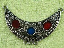 10pcs Enamel Tibetan Silver Jewelry Connectors 54.5x32mm YC134364