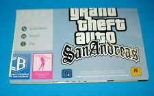 Grand Theft Auto San Andreas Double Sided Poster Map Only