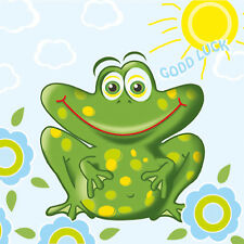 "Paper Luncheon Napkins 13""x13"" 2x20pcs  Lucky Frog Kid's Party"