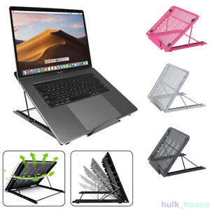 Adjustable Laptop Stand Folding Portable Mesh Desktop iPad Holder Office Support