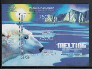 INDONESIA Environmental Care: Melting Ice MNH souvenir sheet