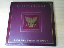 EX/EX- !! Uriah Heep/Two Decades In Rock/1990 5x LP Box Set & Booklet