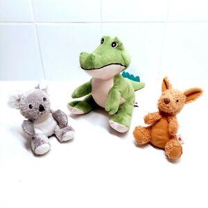 Dinki Di Plush Toys Australian Stuffed Animals Koala, Crocodile And Kangaroo