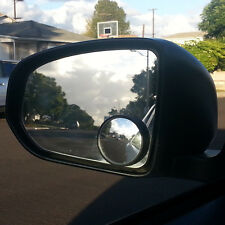 New Black 50mm Large View Car Suv Truck Blind Spot Side Mirror x2