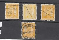 New Zealand 1931 Arms 1/- Postal Fiscal Collection Of 4 SGF146 VFU J3131