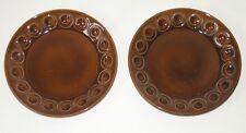 """2 vtg 60s Portmeirion JUPITER side plates 7"""" 18cm Rockingham Brown William-Ellis"""