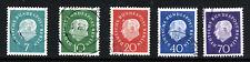 WEST BERLIN GERMANY 1959 President Heuss Set SG B178 to SG B182 VFU