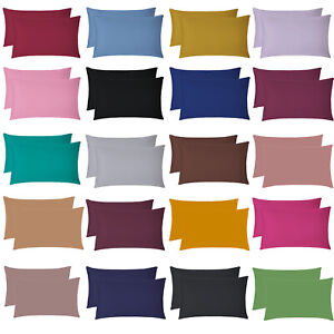 2 X Pillow Case Luxury Case Poly Cotton Housewife Pair Pack Bedroom Pillow Cover