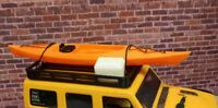Kayak and Cooler with Roof Rack Orange 1/24 scale SCX24  3d printed RC prop USA