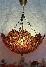 Luxus Bernsteinlampe Deckenlampe Edelstein Lampe Bernstein Leuchte Tiffany Amber